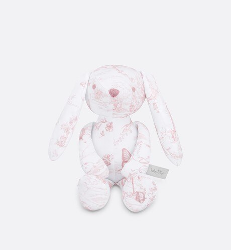 Click here to enlarge the product picture Cotton satin 'Toile de Jouy' print rabbit