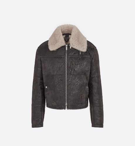 Blouson with Sheepskin Collar Front view