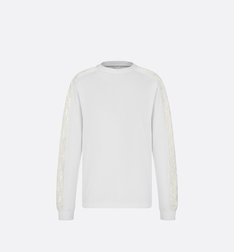 Oversized Sweatshirt with Dior Oblique Bands Front view