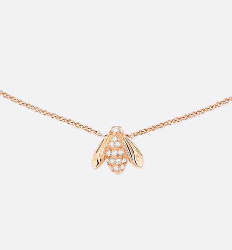 Click here to enlarge the product picture Rose Dior Pré Catelan necklace, 18K pink gold and diamonds