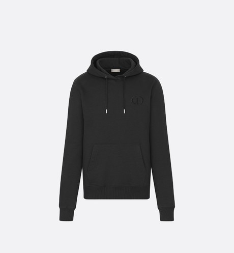 Hooded Sweatshirt with 'CD Icon' Signature front view