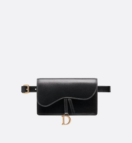 Saddle belt clutch in calfskin aria_frontView