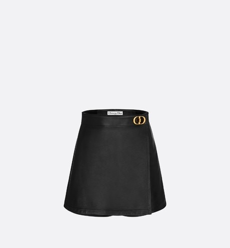 Wrap-Front Shorts with 'CD' Buckle front view