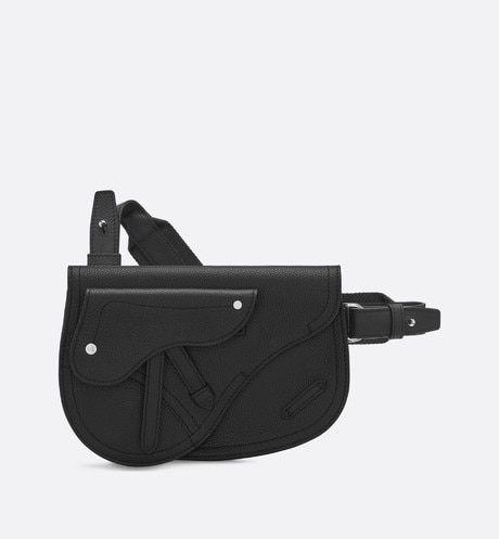 Click here to enlarge the product picture Saddle messenger bag in black calfskin