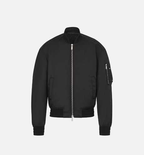 Black Bomber with Saddle Patch aria_frontView