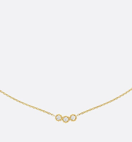 Collier Mimirose, or jaune 750/1000e et diamants Vue de face
