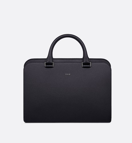 Click here to enlarge the product picture Navy Blue Grained Calfskin Briefcase