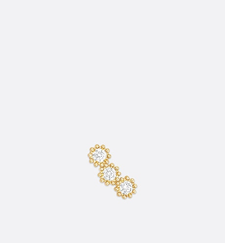 Mimirose earring, 18K yellow gold and diamonds front view
