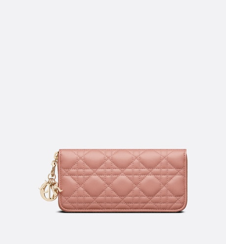 Lady Dior Voyageur Wallet Front view