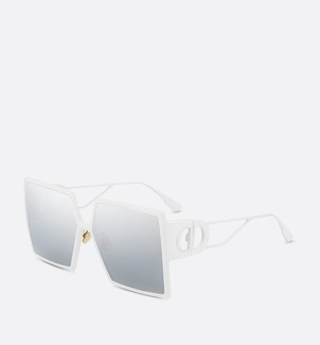 30Montaigne White Square Sunglasses aria_frontView