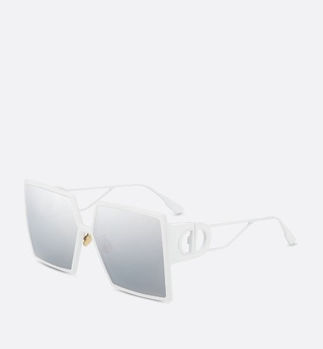 30Montaigne White Square Sunglasses front view