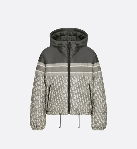 Reversible Cropped Down Jacket Front view