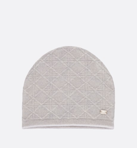 Cashmere intarsia knit bonnet with 'Je t'adior' inlay aria_frontView