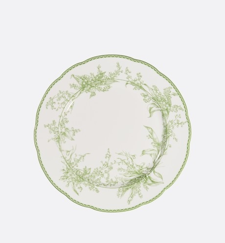 Green New Lily of the Valley Dinner Plate front view