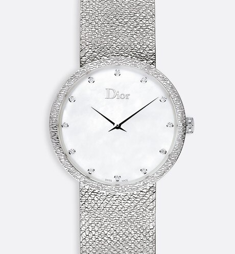 La D de Dior Satine Ø 36 mm, quartz movement