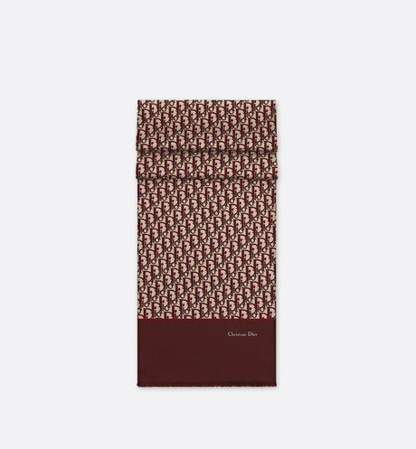 Toile Oblique burgundy stole aria_wornViewCropped