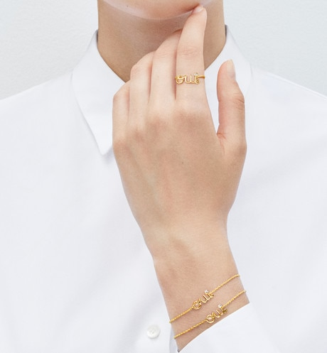 Oui bracelet in 18k yellow gold and diamond aria_wornViewCropped