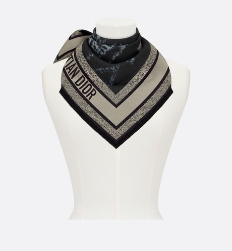 Tie & Dior Square Scarf Worn view cropped Open gallery
