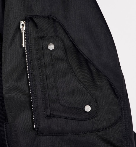 Bomber Jacket with Saddle Pocket Worn view cropped Open gallery