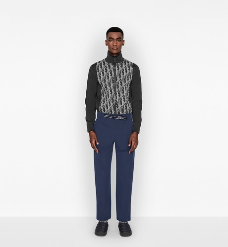 Dior Oblique Technical Blouson Worn view cropped Open gallery