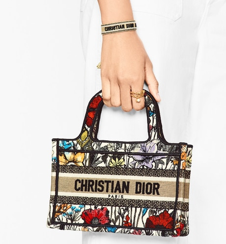 Mini Dior Book Tote Worn view cropped Open gallery