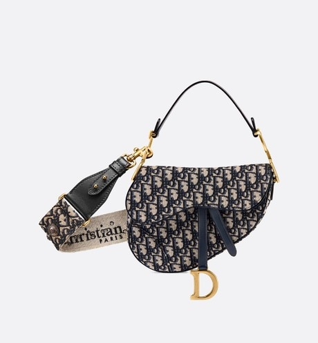 Dior Oblique Saddle bag aria_wornViewCropped
