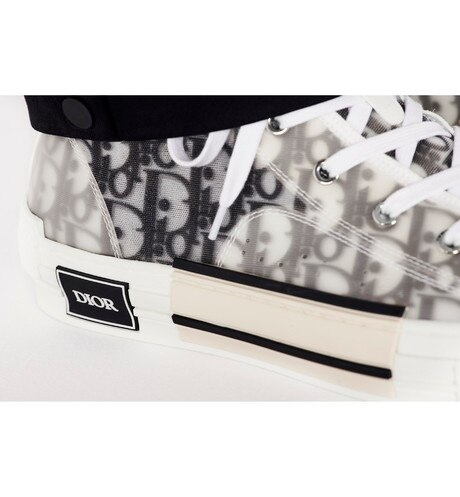 B23 High-Top Sneakers in Dior Oblique worn view cropped