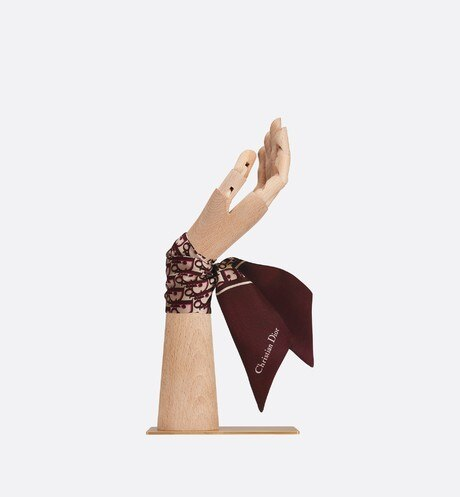 Toile Oblique burgundy Mitzah scarf aria_wornViewCropped