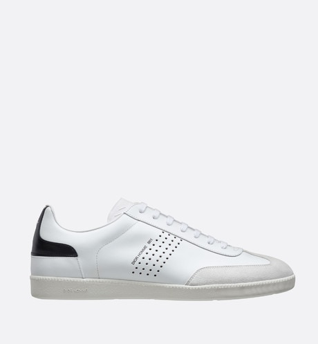 White and black calfskin Sneaker, b01 logo profile view