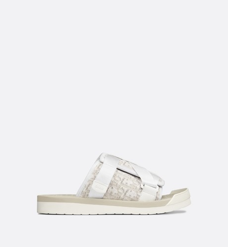 Beige Sandal in Dior Oblique Jacquard profile view