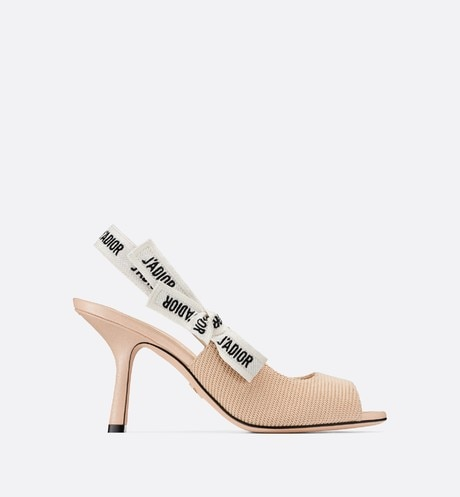 Nude J'Adior Technical Fabric Heeled Sandal aria_profileView
