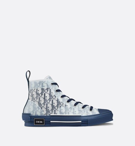 B23 High-Top Sneaker in Blue Dior Oblique aria_profileView