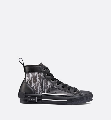 """B23"" high-top Dior Oblique sneaker profile view"