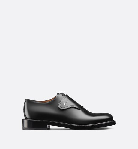 Saddle Monk Derby Shoe in Black Calfskin aria_profileView