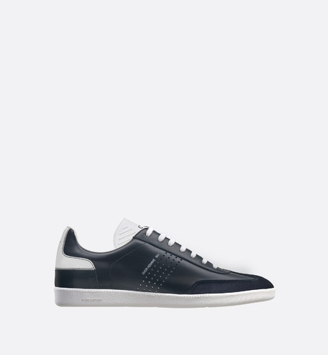 """B01"" Sneaker in black and white smooth calfskin and black suede calfskin aria_profileView"