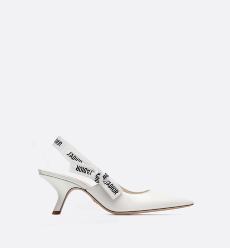 J'Adior slingback in white patent leather aria_profileView