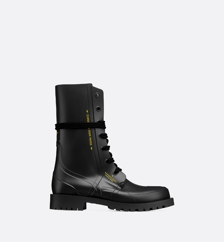 Diorcamp rubber ankle boot Black profile view