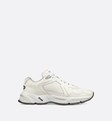 Click here to enlarge the product picture CD1 Sneaker in White Calfskin and Mesh