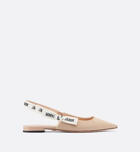 J'Adior ballet flat in technical canvas Beige aria_profileView