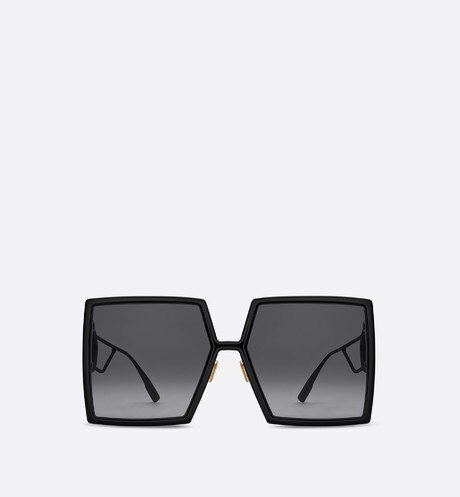 30Montaigne Black Square Sunglasses profile view