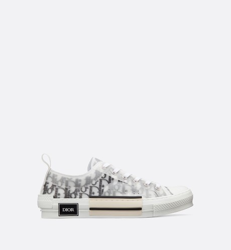 "Dior Oblique technical canvas ""B23"" sneaker profile view"