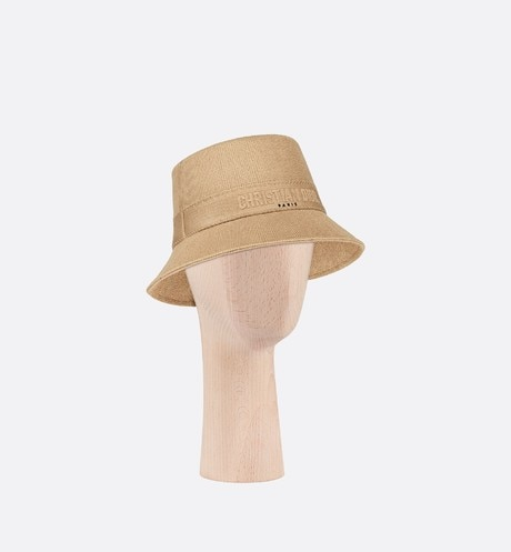 Small Brim Dior Bucket Hat three quarter closed view