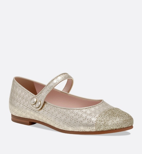 Lambskin leather and sequin ballerinas aria_threeQuarterClosedView