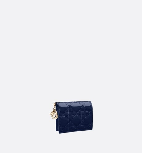 Lady Dior Lotus Wallet three quarter closed view Open gallery