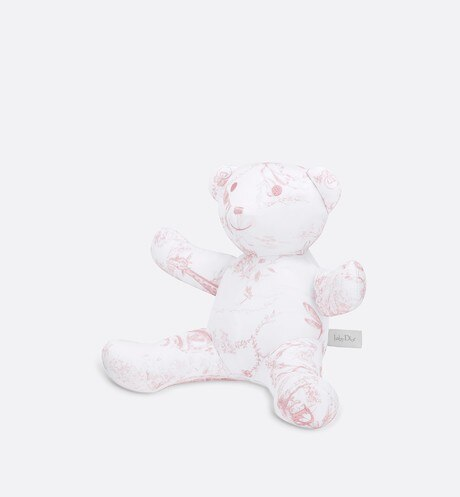 Cotton satin 'Toile de Jouy' print teddy bear aria_threeQuarterClosedView