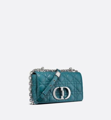 Small Dior Caro Bag Three quarter closed view Open gallery