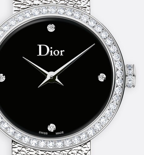 La D de Dior Satine ø 25 mm, quartz movement aria_threeQuarterClosedView