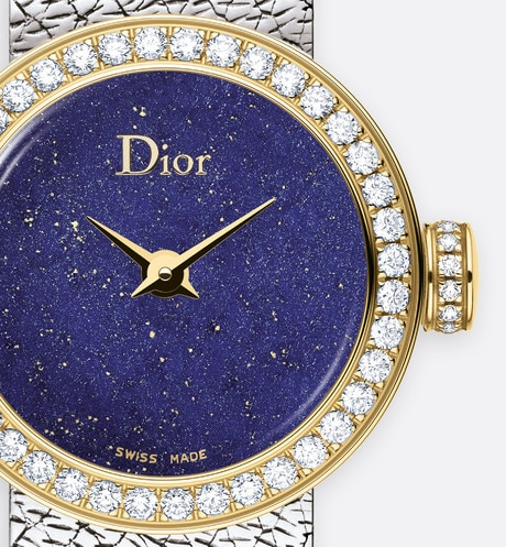 La D de Dior Mini Satine Ø 19mm, quartz movement three quarter closed view