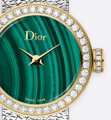 La Mini D de Dior Satine Ø 19 mm, mouvement quartz aria_threeQuarterClosedView
