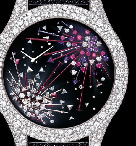 Dior Grand Soir Feux d'artifice N°3, Ø 36mm, quartz movement three quarter closed view